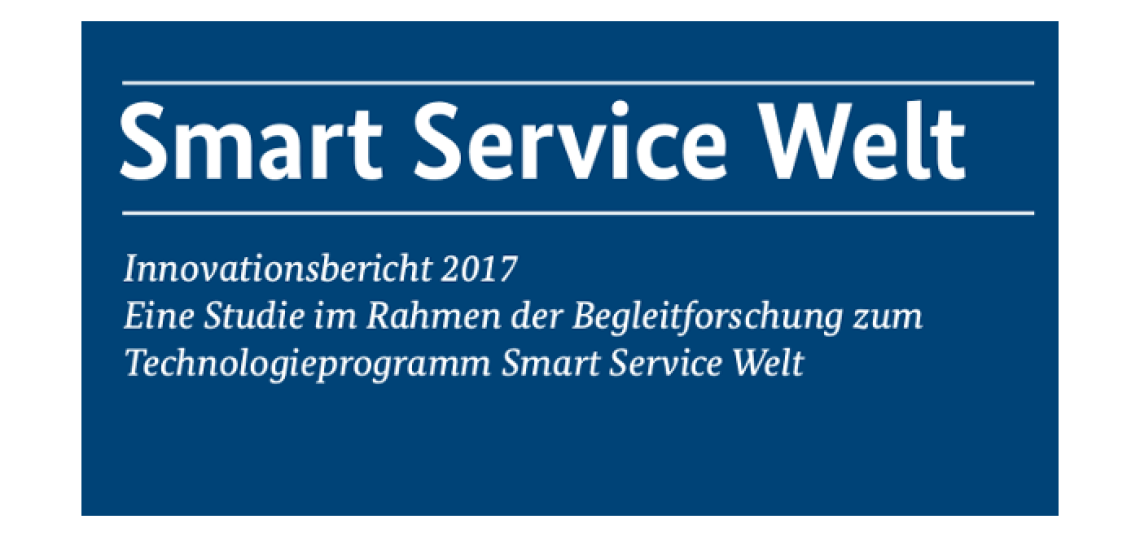Deckblatt Smart Service Welt Innovationsbericht 2017