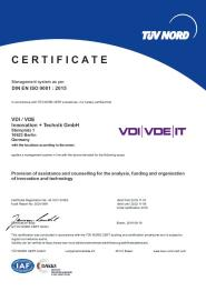 Certificate ISO 9001 - 2019 (English)