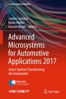 Cover Advanced Microsystems for Automotive Applications 2017