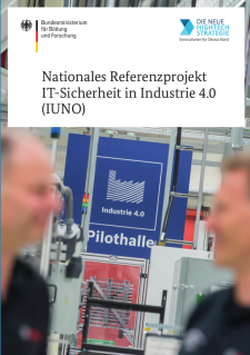 Deckblatt Nationales Referenzprojekt IT-Sicherheit in Industrie 4.0 (IUNO)