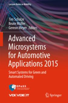 Cover Advanced Microsystems for Automotive Applications 2015